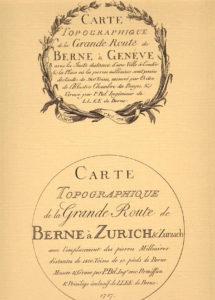 Routenkarte Genf / Ber 1783n
